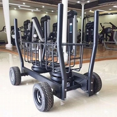 New Cheaper Strength Training Tank Sled Machine with Wheels for Gym equipment