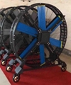 Big Industrial Mobile Fan on Floor for Gym