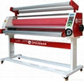 Single size control heated laminator to