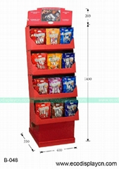 Point of Sales Cardboard display for packed food