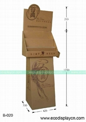 Recyclable cardboard stands for food