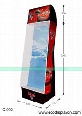 Custom cardboard display racks for toy cars