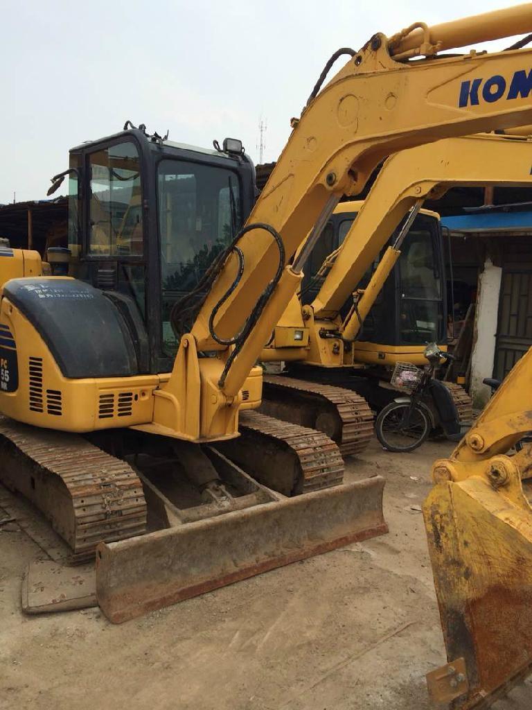 Used Komatsu Pc55 Mini Excavator Digger Excavator 5 5 Ton