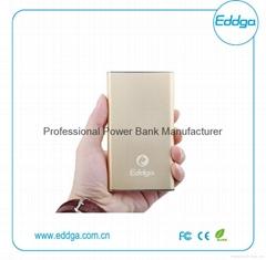 aluminum super thin slim 10000mah portable external mobile charger power bank