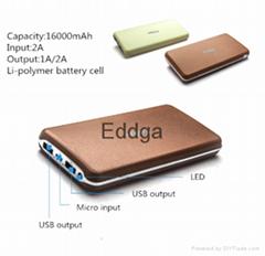 20000mah ultra slim universal portable usb mobile phone charger power bank