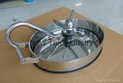 Sanitary Stainless Steel Pressure Elliptical Inward Manhole Cove 430x330x110mm