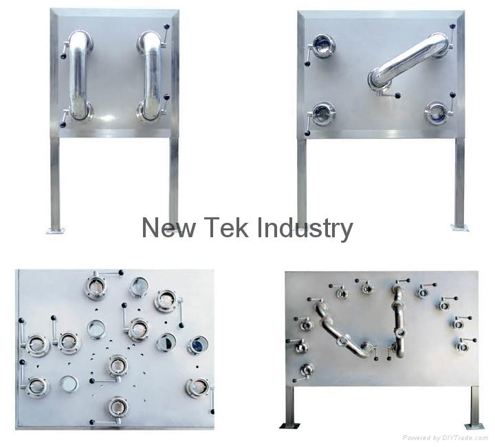 Sanitary stainless steel flowverter plates nt h new