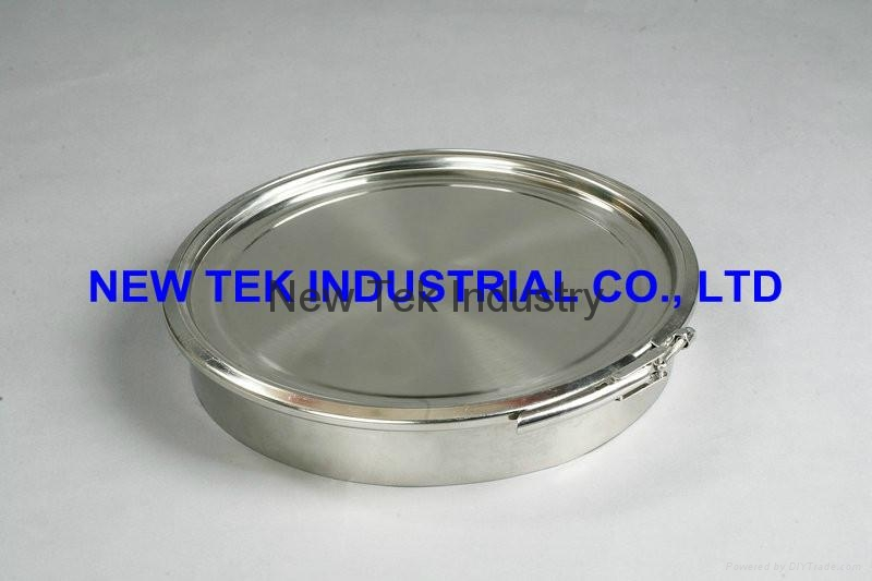 Stainless Steel SS304 Clamp Brew Kettle Tank Manhole Round Manway 2