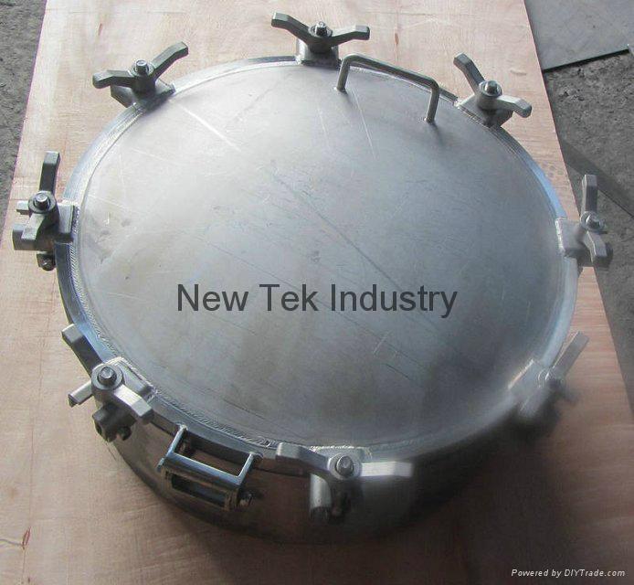 Stainless Steel Unpolished Round Tank Manhole Manway China
