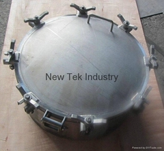 Stainless Steel Unpolished Round Tank Manhole Manway
