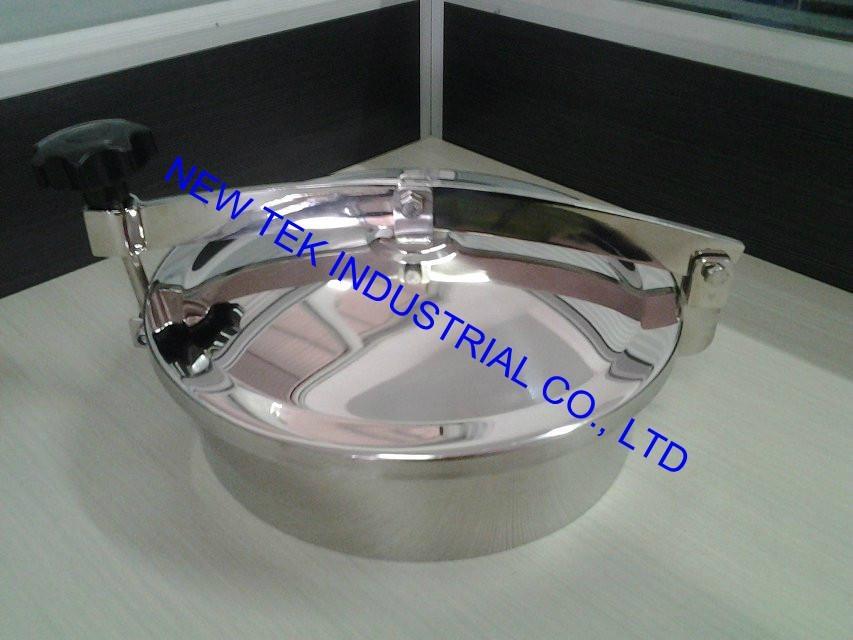 Sanitary SS304 Round Non-pressure Tank Manhole Cover Access  2