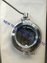 DN200 Stainless Steel Hygienic Powder Triclamp/Welding Butterfly Valve (BV)