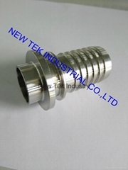 Sanitary SS304 Stainless Steel Triclamp Ferrule Welding  Hose Barb Hose Assembly