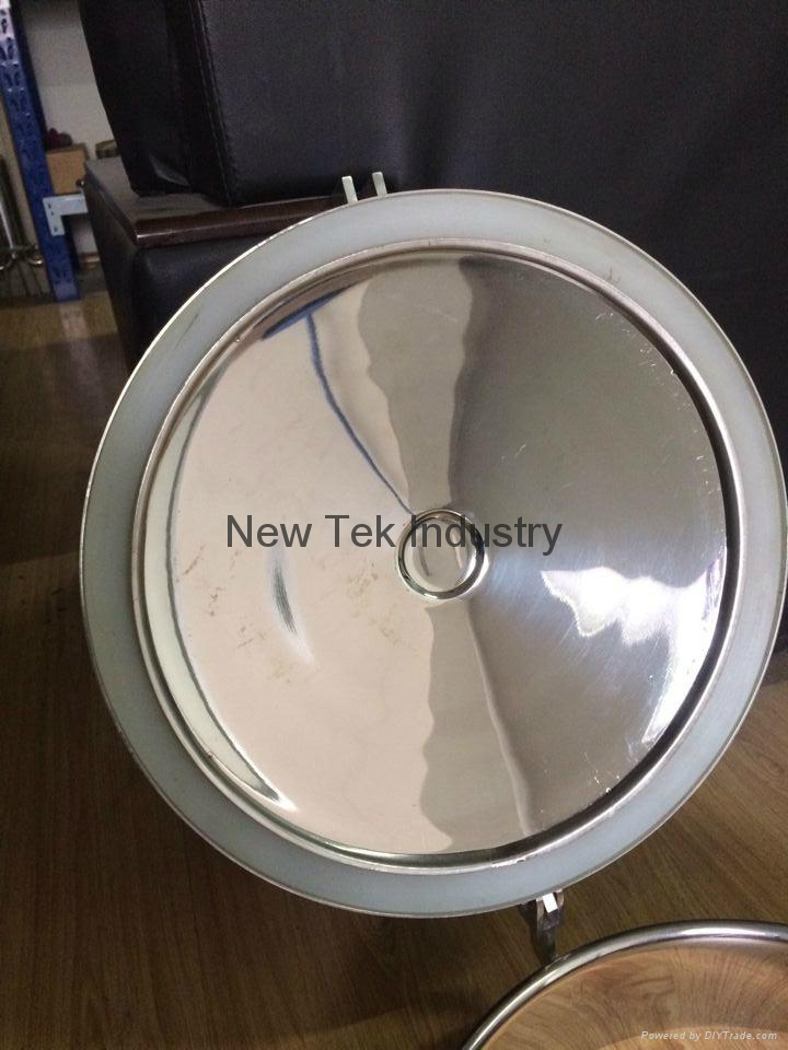 Sanitary Stainless Steel Non-pressure Manway Cover EPDM Gasket  2
