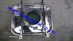 Food Grade Stainless Steel Square Rectangular Manhole w/Sight Glass