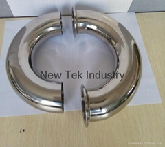 Stainless Steel Food Grade Tri-Clamp 180° Bend/ Welded Elbow