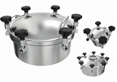 Hygienic Pressure Tank Manhole Cover Stainless Steel Food Grade