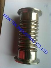 Stainless Steel Triclamp Flex Mteal Hose Bellows