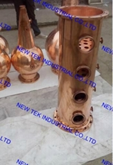 Commercial Alcohol Copper Still Column w/ Flang Ends