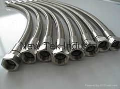 "1/4"" 37° Degree JIC  Stainless Steel Braided High Pressure  PTFE Hose"