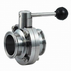 Sanitary  Tri Clamp Butterfly Valve Pull Handle Stainless Steel