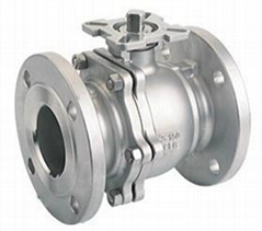 2PC Stainless Steel Flanged Ball Valve w/ Mounting Pad ASME