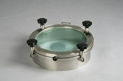 Food Grade Stainless Steel 304 Full Sight Glass Manway Glass Top Manhole Cover