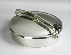 Sanitary stainless steel round kettle manhole cover