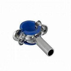 Sanitary Stainless Steel Round Pipe Holder with Sleeve