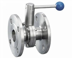Sanitary Butterfly Valve Flanged Ends  with Pull Handle