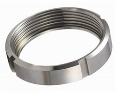 Sanitary  DIN Round Nut Stainless Steel