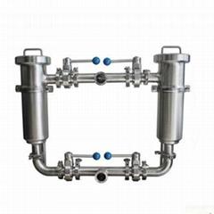 卫生级不锈钢双联过滤器