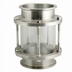 Inline triclamp Sight Glass
