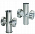 Sanitary Stainless Steel Tri Clamp Cross