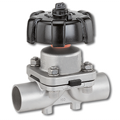 anitary Butt Welded Diaphragm Valve Manually Operated