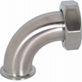 Sanitary 90 Degree Clamp to Plain Bevel