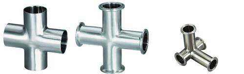 Sanitary fitting tri clamp ss and crosses nt