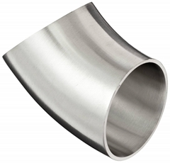 Stainless Steel Sanitary 45 Degree Polished Weld Short Elbow