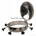 Sanitary Round Stainless Steel Tank Lid Manhole Cover 2