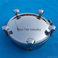 Sanitary Round Stainless Steel Tank Lid Manhole Cover 3