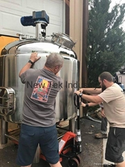 1200L Steam Jacketed  Mash Ton for Craft Distillery