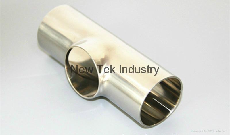 卫生级不锈钢焊接短三通DIN标准 3