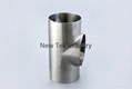 Sanitary Stainless Steel DIN Short Welded Tee SS304 SS316L 5