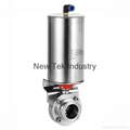 Spring Return Pneumatic Butterfly Valve  Tri Clamp 1.5 in.