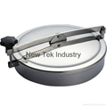 Sanitary Stainless Steel Non-pressure Manway Cover EPDM Gasket