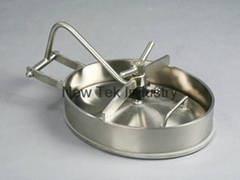 Sanitary Stainless Steel Inward Oval Tank Manway Cover 430x330x75mm