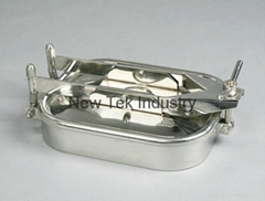 衛生級不鏽鋼單手輪方形人孔