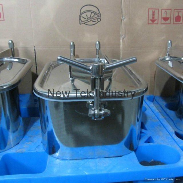 Sanitary Stainless Steel Rectangular Tank Manway Extended Welding Neck 1