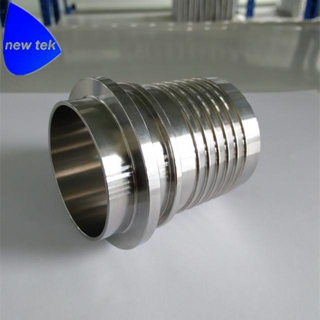 Sanitary Stainless Steel Crimp Stem Clamp End x Hose Shank 3