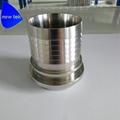 Sanitary Stainless Steel Crimp Stem Clamp End x Hose Shank 5